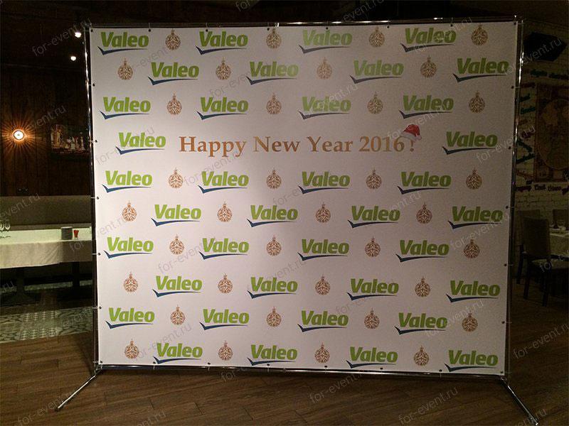Пресс волл 3х2,5 м на Новый год