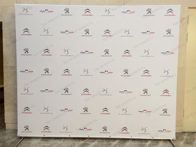 Заказать пресс волл со скрытой конструкцией 300×250 см