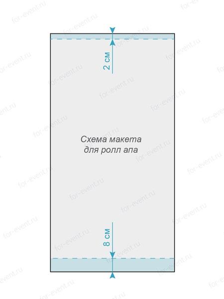 Схема макета для ролл апа
